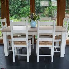 beckford table with ladder back chairs hand painted by rectory