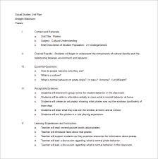unit lesson plan template u2013 9 free sample example format