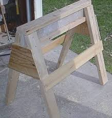 Free Woodworking Plans For Mission Furniture by 39 Free Sawhorse Plans In The Hunt For The Ultimate Sawhorse