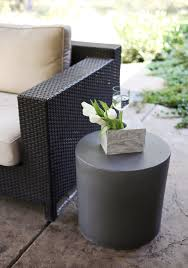 Concrete Side Table Stool Side Table