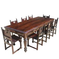 dining rooms charming rustic brown leather dining chairs vintage