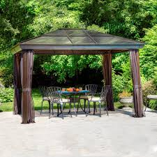 Sun Shelter Gazebo Rona by Affordable Lowes Garden Treasures Gazebo Design Home Ideas