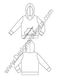 v20 kangaroo pocket hoodie kids flat fashion sketch free adobe