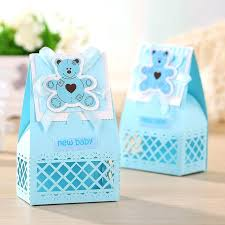 baby shower giveaway ideas tea party baby shower favors ideas pink and blue boxes
