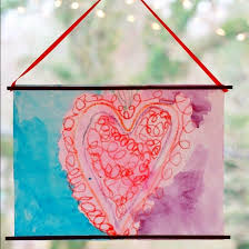crayon valentines valentines day for kids with melted crayon heart paintings