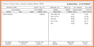 Payroll Statement Template by 6 Pay Stub For Free Securitas Paystub