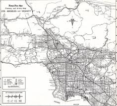 Map Los Angeles Thomas Bros Map Circa 1968 Los Angeles Metro Freeway Map Flickr