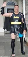 us man dale dons fancy dress to wave his son off to for a