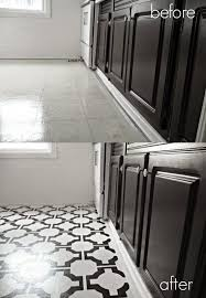 Kitchen Sheet Vinyl Flooring by Best 25 Painted Vinyl Floors Ideas On Pinterest Floor Paint