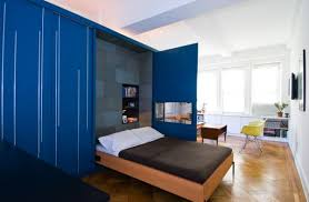 Designs Ideas  Space Saving Apartment With Musphy Bed And Blue - Space saving bedrooms modern design ideas