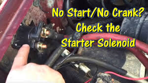 1993 ford ranger starter ford no start no crank check the starter solenoid