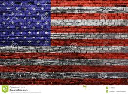 Usa Flag History American Flag On Old Brick Wall Stock Photo Image 34719362