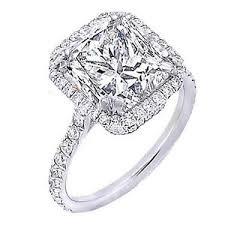 princess cut halo engagement ring 2 60 ct princess cut halo u set engagement ring h vvs2 egl