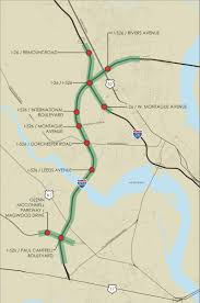 interstate 26 map improvements planned for congested section of i 526 charleston