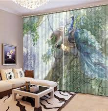 Peacock Curtains Online Buy Wholesale Peacock 3d Curtains From China Peacock 3d