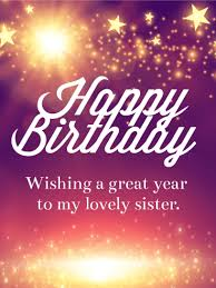 sparkle birthday cards for sister birthday u0026 greeting cards by