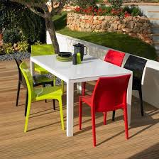 innovative plastic garden table patio a white intended for