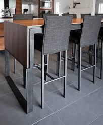 chaise haute design cuisine table haute design magnifique de bar industrielle et en