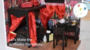 Diy Fandom Dollhouse Cute Miniature by Lets Make The Gryffindor Dormitory Harry Potter Bedroom Dollhouse