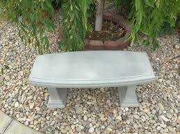 Concrete Curved Bench - concrete bench double curved garden bench ksl com side yard