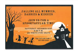 Invitational Cards Free Halloween Birthday Invitations Template
