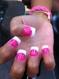 sola nail pink and white tip clear nail design pinterest