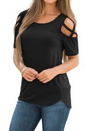 criss cross blouse black crisscross cutout shoulder blouse lookbook store