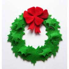 felt ornaments wreath set of 6 wreath felt