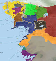 map of the lord of the rings lord of the rings alliances map and movements