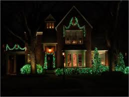 Christmas Lights For House by Red And Green Outdoor Christmas Lights Or By Green Christmas