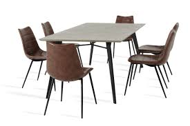 concrete dining room table modrest claw modern concrete dining table