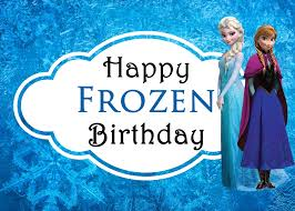 9 best images of frozen printable birthday card printable happy
