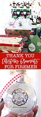 thank you silhouette ornaments for firemen