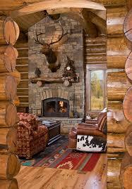 Electric Fireplace Logs Electric Fireplace Logs Living Room Rustic With Cow Hide Deer