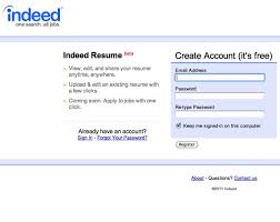 Indeed Create Resume Upload An Existing Resume