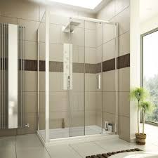 Bathroom Shower Trays by 1400 X 900 Sliding Door Shower Enclosure Glass Cubicle With Stone