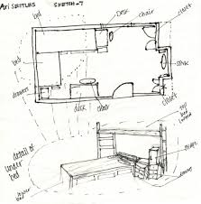 floor plan rendering drawing hand napkin idolza farnsworth house