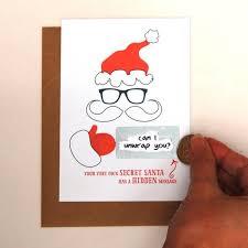 message secret santa cards pack of 10 hardtofind