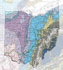 Ohio Union Map by Geologic Maps Of The 50 United States Ohio And Geology