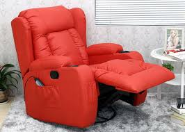 red leather recliner chair living room wingsberthouse red