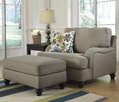 Ashley Furniture Armchair Furniture Large Tufted Ottoman Overstuffed Chair And Ottoman