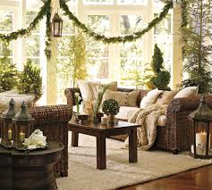 Coffee Table Decorating Ideas by Decorations Nature Themed Living Room Christmas Decoration