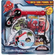 Marvel Bathroom Set Marvel Ultimate Spider Man Bath Time Fishing Set 18 Pc Walmart Com