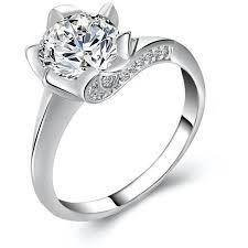 rose color rings images 17km big cubic zirconia wedding engagement rings for women rose jpg