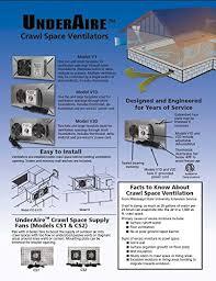 crawl space exhaust fan tjernlund v1d underaire crawlspace ventilator fan moisture mold
