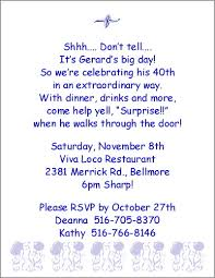 funny 40th birthday party invitation wording stephenanuno com