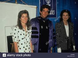 john kennedy jr with mother jackie kennedy and sister caroline