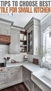 what is the best size for a kitchen sink things to consider for choosing the best tile for a small