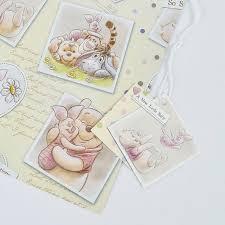 winnie pooh baby gift wrap u0026 tags card factory