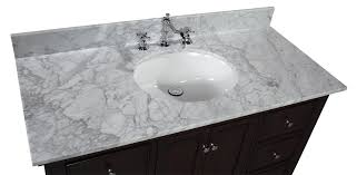 Bella Inch Vanity CarraraChocolate  KitchenBathCollection - Bella 48 inch bathroom vanity white